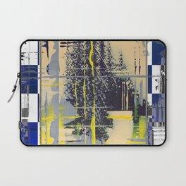 Sunday Morning - blue check Laptop Sleeve