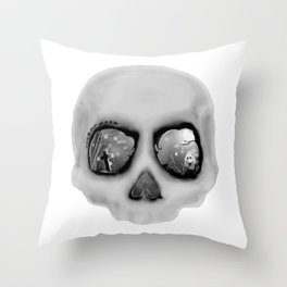 sleeping less every night Throw Pillow