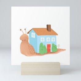 Housewarming Snail Mini Art Print
