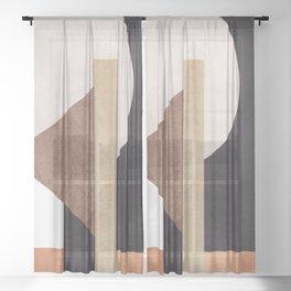 Abstract Geometric Art 10 Sheer Curtain