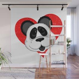 Cute Panda Bear  Wall Mural