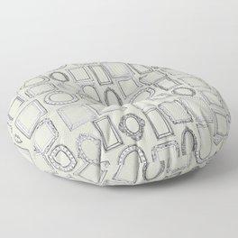 picture frames bone Floor Pillow