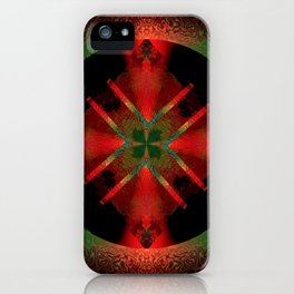 Spinning Wheel Hubcap in Scarlet iPhone Case