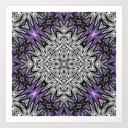 Purple Tribal Art Print