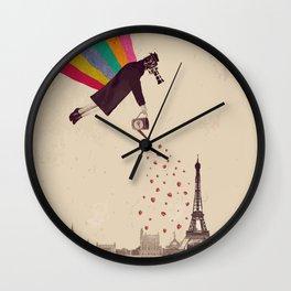 Parisians, eat strawberries. Wall Clock