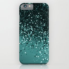 Teal Mermaid Ocean Glitter #3 #shiny #decor #art #society6 iPhone Case