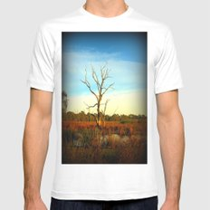 Cockatoo Tree White SMALL Mens Fitted Tee