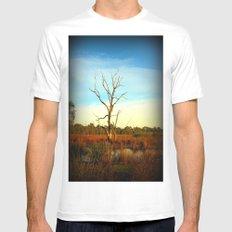Cockatoo Tree White Mens Fitted Tee MEDIUM