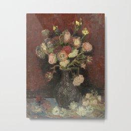 Vincent van Gogh - Vase with Autumn Asters Metal Print