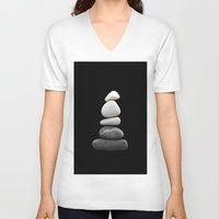 balance V-neck T-shirts featuring balance by ARTbyJWP