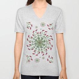 kaleidoscope cranberries in nature Unisex V-Neck