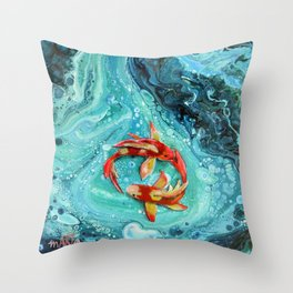 Going Round and Round Throw Pillow