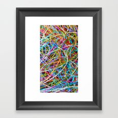 Love is Delightfully Chaotic Framed Art Print