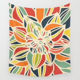Vintage flower close up Wall Tapestry