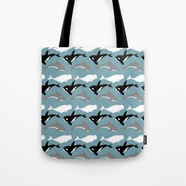 Dolphins and Whales Tote Bag