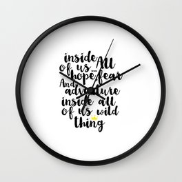 Gift For Kids Printable Inside All Of us is a Wild Thing Nursery Decor Nursery Wall Art Baby Print Wall Clock