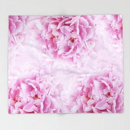 Pink Peonies Dream #1 #floral #decor #art #society6 Throw Blanket