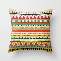 aztec Throw Pillows featuring  AZTEC by Allyson Johnson