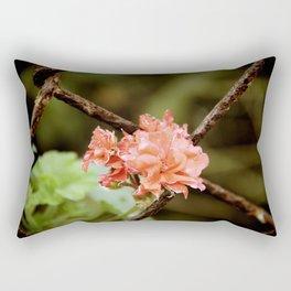 Flower through the Fence Rectangular Pillow