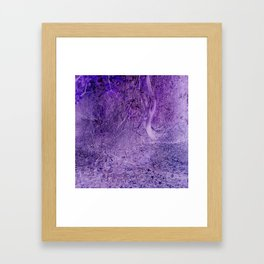 Season of the Land - Purple Storm Framed Art Print