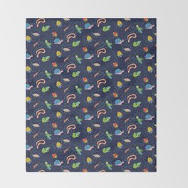 Bug Party Throw Blanket