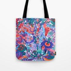 Flower Village Tote Bag