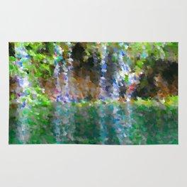 Waterfall Nature Art (Creative Concept) Rug