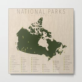 National Parks of Canada Metal Print