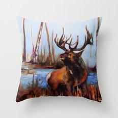 Tylers Elk Throw Pillow