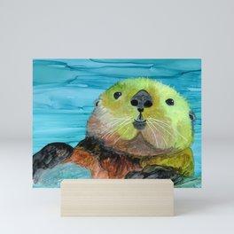 Smiling Sea Otter Mini Art Print