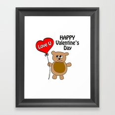 Love U Valentine's Day Framed Art Print