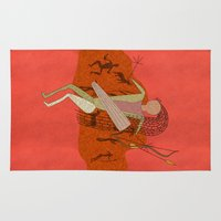 hunting Area & Throw Rugs featuring Hunting Party by BohemianBound