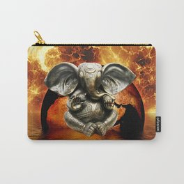 Elephant Ganesha and Earth Carry-All Pouch