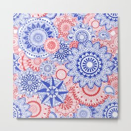 Celebration Mandala Metal Print