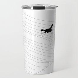 Cat jump in the tornado Travel Mug