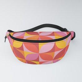 Retro geometric pattern in vivid red Fanny Pack