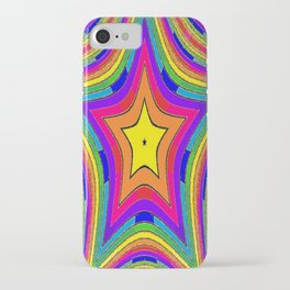 Colorful Rainbow Star w/gold iPhone Case