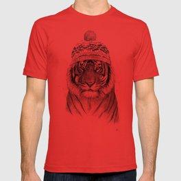 Siberian tiger (b&w) T-shirt