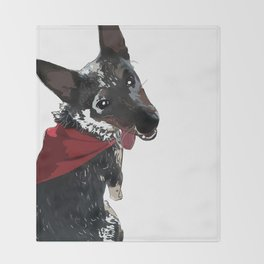 Adorable Dog Wrigley Throw Blanket