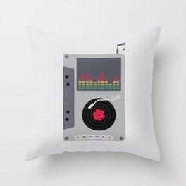 Music Mix Throw Pillow