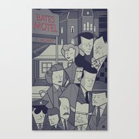 psycho Canvas Prints featuring Psycho by Ale Giorgini