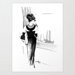 Breakfast at Tiffany's Sketch Art Print