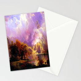 Albert Bierstadt Rocky Mountain Landscape Stationery Cards