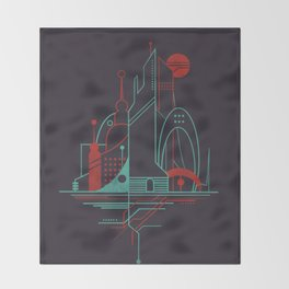 From the Subway to the Sky (at Night) Throw Blanket