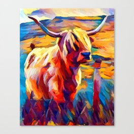 Highland Cow 4 Canvas Print
