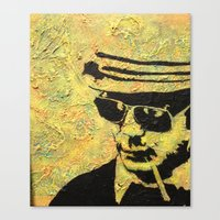 hunter s thompson Canvas Prints featuring hunter s thompson by Leemarie