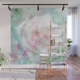 Triangle Rose Wall Mural