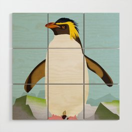 Rockhopper Penguin Wood Wall Art