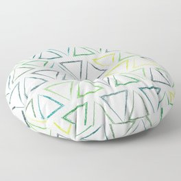 Peaks - Leaf #502 Floor Pillow