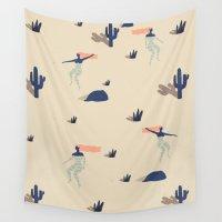 swim Wall Tapestries featuring Dezert swim by .eg.